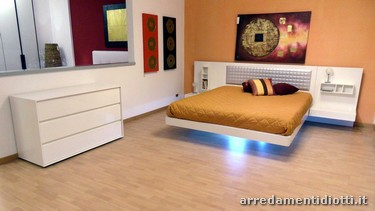 Aladino white floating bed